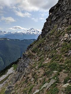 Nice goat trail along the ledge