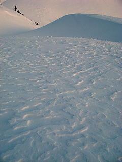 Sastrugi near Herman Saddle