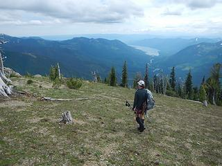 nearing the southeast lookout site