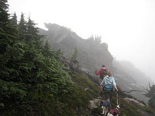 Rampart summit ahead