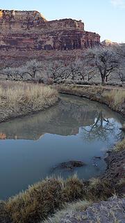Desert Cliff Reflection