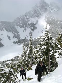 Above Eagle Lake, Mark & Eric