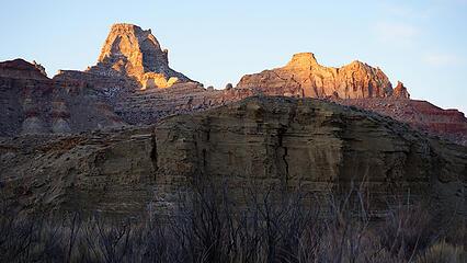 Window Blind Peak Sunrise