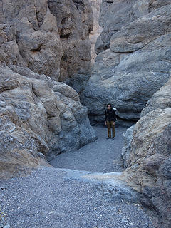 Tommy enters Grotto Canyon