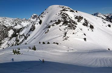 Can you spot all 10 snowshoers in this photo (including my shadow as one of them)?