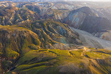 Images from my first day of flying around Landmannalaugar  Iceland with my Mavic Pro 2