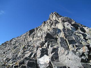 blocky class 3 just below the summit