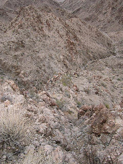 Descent canyon is steep at first