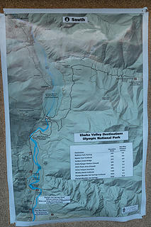 Elwha-OHS Rd area map at road gate TH kiosk