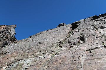 James descending dike on Tower 2