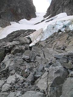 Chunks of ice threatened.