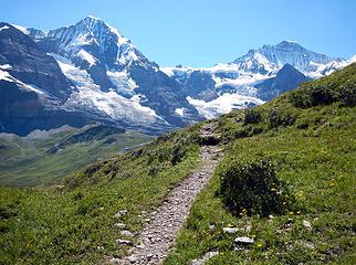 Path On Lauberhorn
