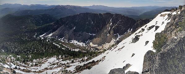 SE Ridge from summit