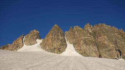 Pinnacle Ridge; we went up the left snow finger