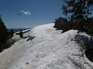 Some snowy sections on the ridge walk.