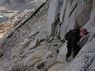 scrambling Mt Goode 13,085'