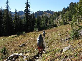 Entering Cabin Creek Basin