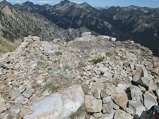 Old lookout site on summit