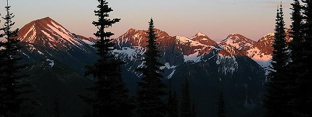 Freezeout area peaks at sunset