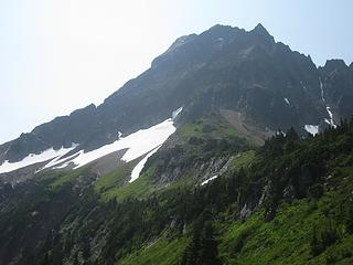 Cascade Peak and the beginning of the traverse