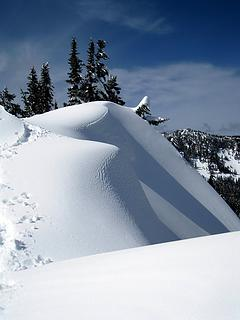 textured snowdrifts
