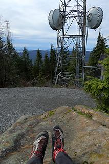 summit view of radio towers