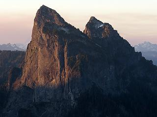 Early light on the north face of Baring