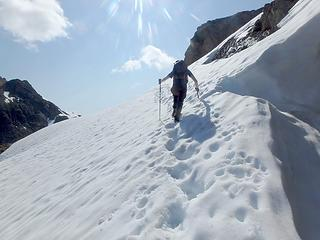 Traversing a snowfield