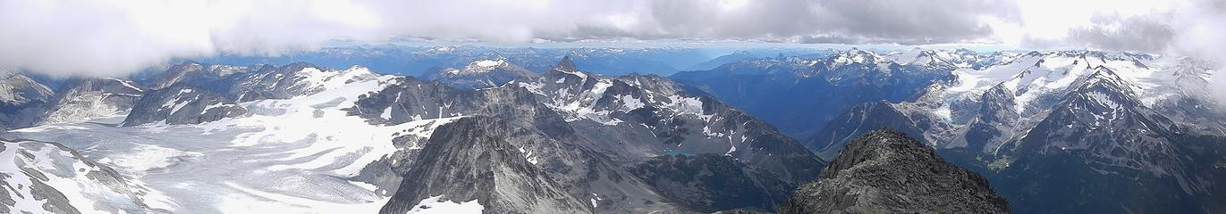 summit pano during brief clearing