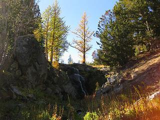 Falls below lake