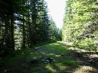 End of the old Meadow Mtn Road