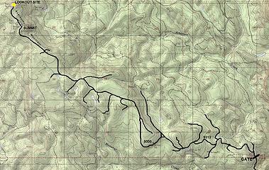 Bike-Hike Route