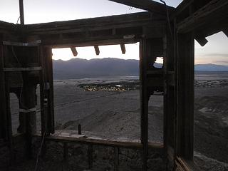Furnace Creek lights below
