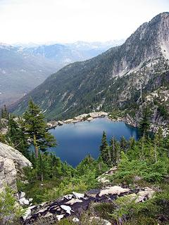 First view of Summit Chief Lake