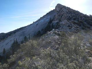 up this ridge