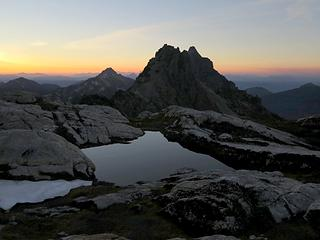 Another tarn at sunrise, 6:02am