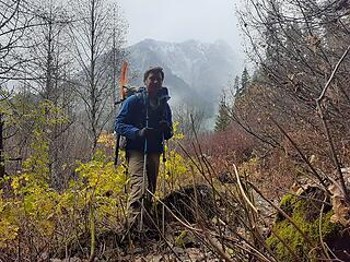 Hiking down from Beaver Pass