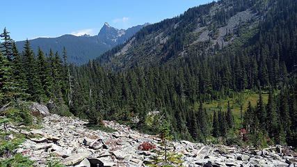 View descending to Pratt Lake
