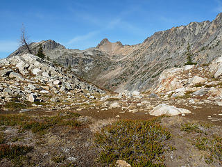 View right at Copper Pass.