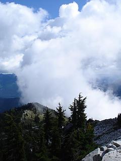 Very strange cloud effects.
