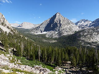 Vidette Meadow and glimpse into Center Basin (left)