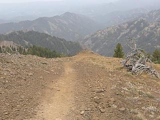 Views leaving Miller Peak summit.