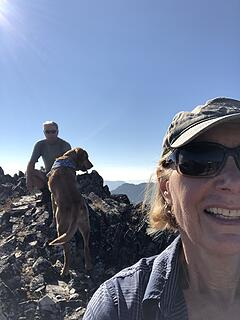 Selfies on Baldy summit