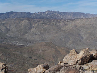 San Ysidro Mtns. to the north