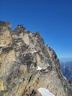 En route to summit/false summit