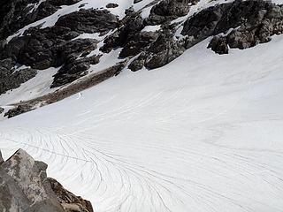 crevasses on bruseth glacier