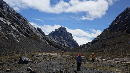 Nearing base camp