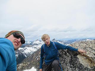 two dumbs hits that managed to find their way up Cutthroat Peak