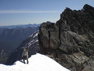 On the ridge crest.