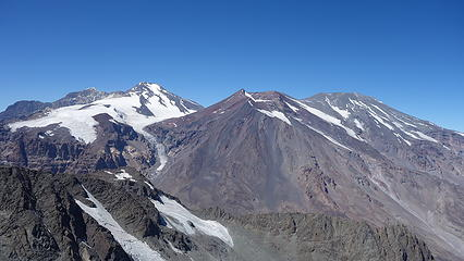Volcan San Jose (right) and Marmolejo (left)